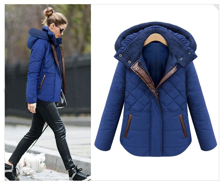 Latest Winter Fashion Women Parkas Hooded Thicken Super warm Ladies Coat Long sleeve Slim Big yards Cotton-padded jacket NZ311