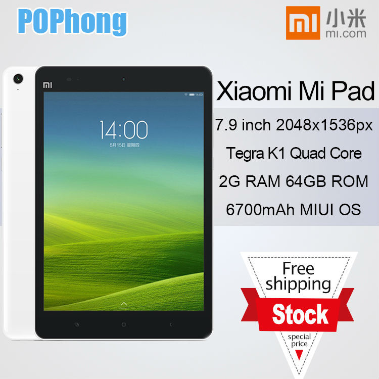 Original Xiaomi Mi pad MiPad Android Quad Core Tablet PC Tegra K1 CPU 7 9 Inch