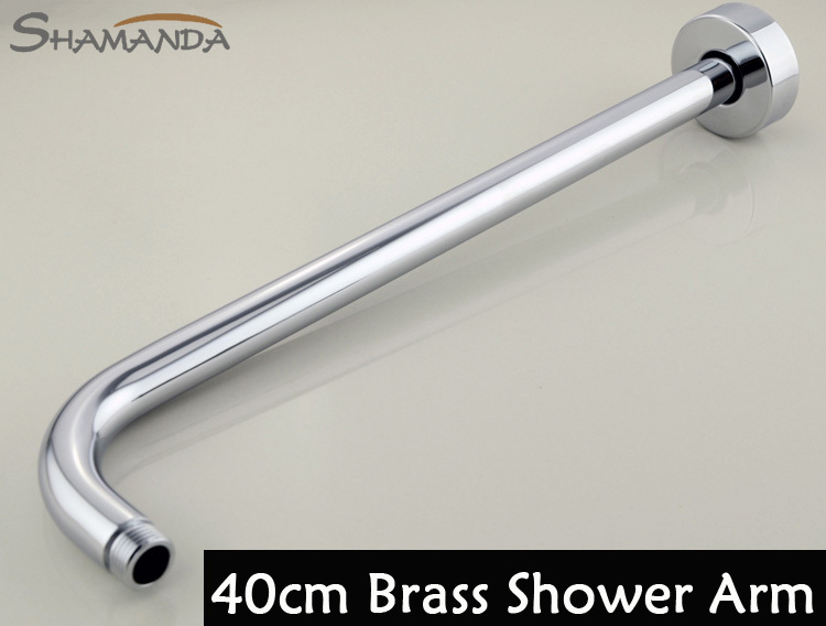 2016 Hot Sale Free Shipping Round Brass Chrome 40 for Cm In Wall Mounted Shower Arm for Rainfall Head+100% Guaranteed Bar 25118(China (Mainland))