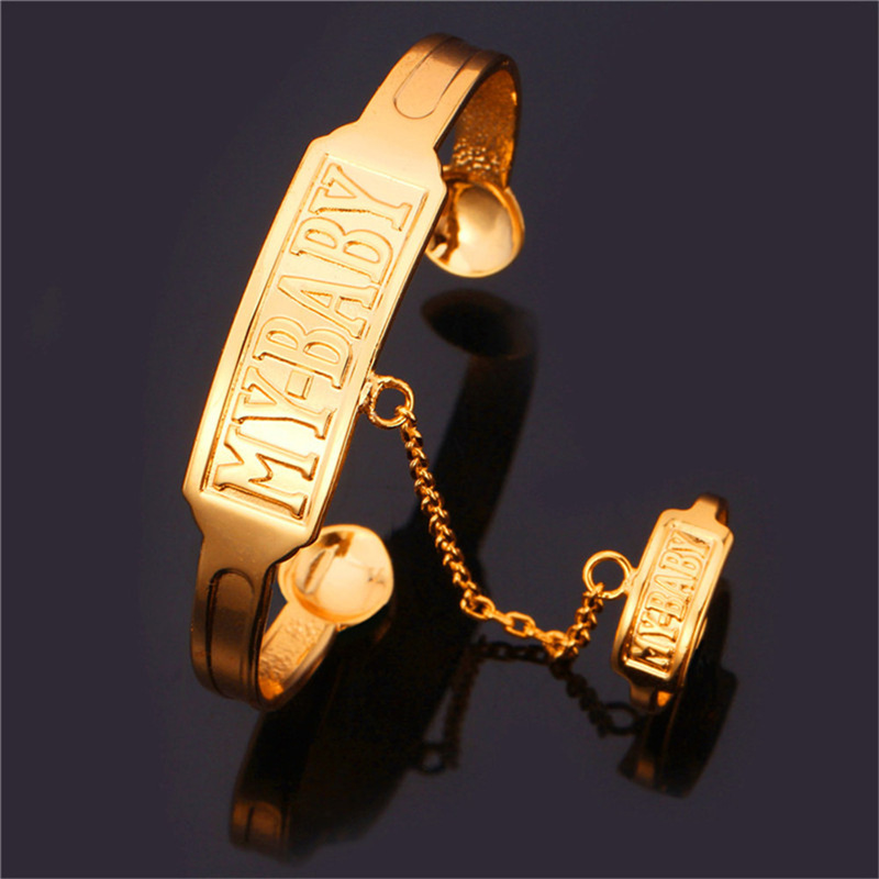 Gold Plated Set Bracelet Connected Ring Letter MY Baby For Love Trendy Fashion Jewelry Brand For Women Jewelry Set Gift HR200(China (Mainland))