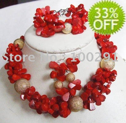 Free shipping!!! Fashion stone Semi-precious Stone Necklace Earring wedding&life&party&gift Costume Womens' Jewelry(China (Mainland))