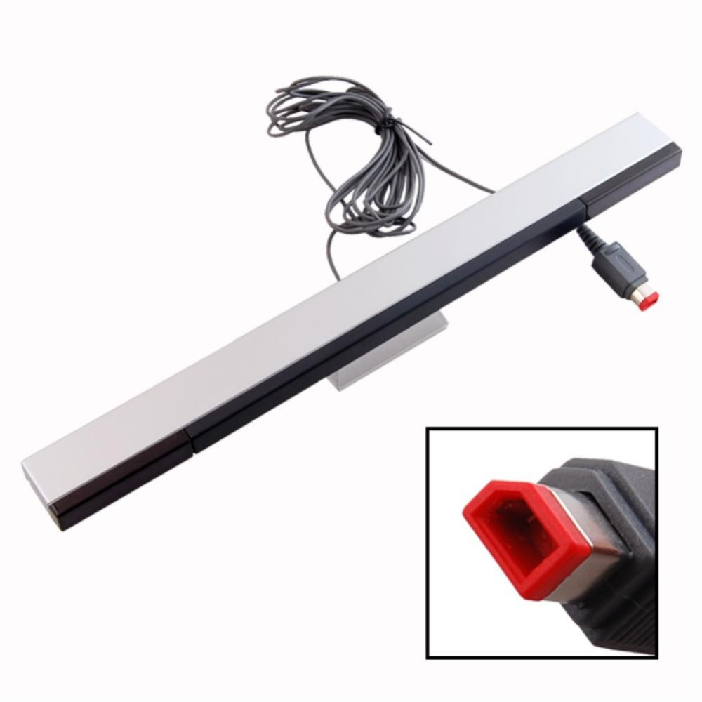 Wired Infrared Ray Sensor Bar For Nintendo Wii Remote EH0132 motion sensor Infrared Ray Inductor Sensor Bar Nintendo Wii Console(China (Mainland))