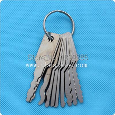Auto Jigglers for Double Sided Lock tool 10 keys(China (Mainland))