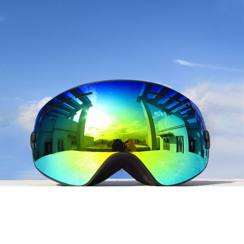 Kids Ski Goggles Snow Snowboarding Glasses Snow/UV- Protection Multi-Color/ Double Anti-fog Lens Snowboard Ski Goggle 4300A(China (Mainland))
