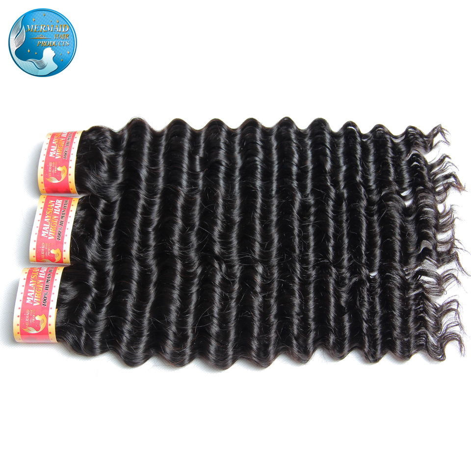 malaysian virgin hair deep wave nature black #1b 6a unprocessed malaysian virgin deep wave hair 4 bundles hair weaving<br><br>Aliexpress