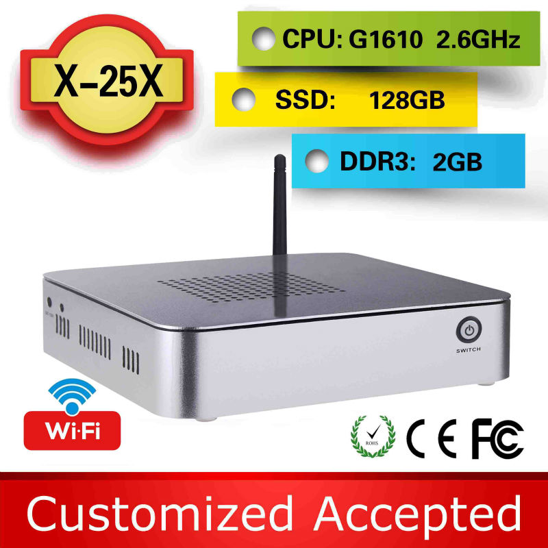 The cheapest thin clients X25X G1610 2g ram 128G SSD xbmc tv box netbook laptop micro computer support Touchpad(China (Mainland))