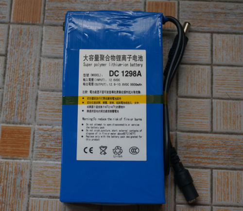 12V Portable 9800mAh Li-ion Super Rechargeable Battery Pack Portable for CCTV(China (Mainland))