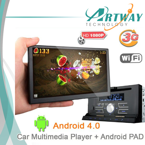 """7"""" 2DIN universal Car DVD Player with detachable Android 4 Tablet PAD MID Car Navigation Multimedia System BT GPS 3G WIFI(China (Mainland))"""