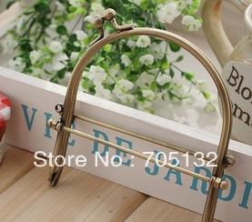 "10cm/4"" bronze Metal handbag frames with slant kiss clasp 10pcs Mini interchangeable vintage style purse handle(China (Mainland))"