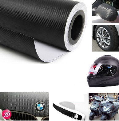 118''x24'' Waterproof DIY Car Sticker Car Styling 3D 3M Car Carbon Fiber Vinyl Wrapping Film With Retail packaging red & black(China (Mainland))