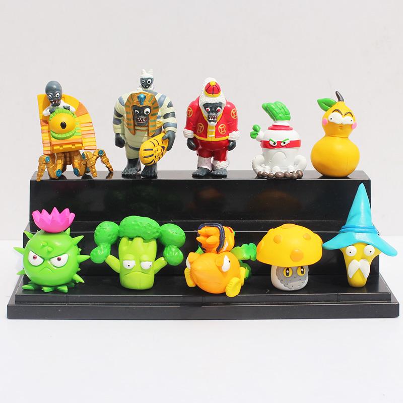 5Sets/lot PVC Plants Vs Zombies PVZ Figure Toys Collection Model Dolls 4~7cm 10pcs/set<br><br>Aliexpress