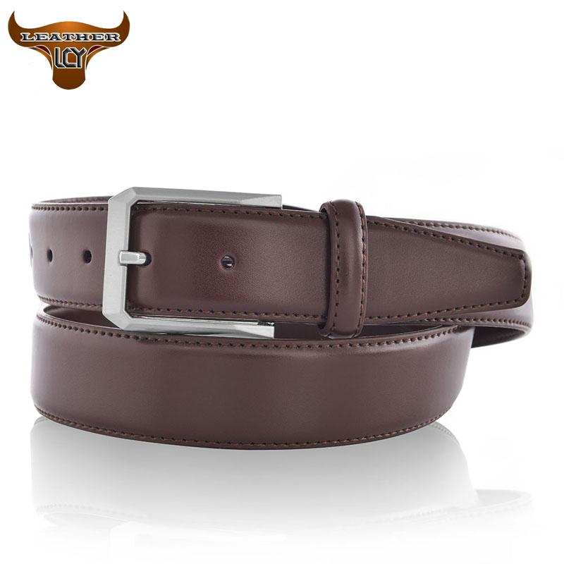 [LCY] cinturones hombre Luxury 100% Real Leather Belt for Men Newest Designer Belt High Quality Pin Buckle Men's Belt 350119(China (Mainland))