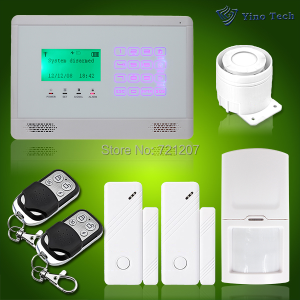 Wireless GSM SMS 2pcs D/W Sensors Home Auto-Dial Burglar Security Alarm System With Touch Keypad Control Panel DIY kit<br><br>Aliexpress