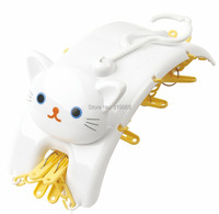 Plastic Hangers for Clothes Pants Coat 2015 Cartoon Cat style Wholesale Brand  Free shipping (2pieces/Lot)