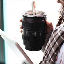 New Termos Coffee Camera Lens Stainless Steel Cup 24-105 Coffee Tea Travel Mug Thermos & Lens Lid(China (Mainland))