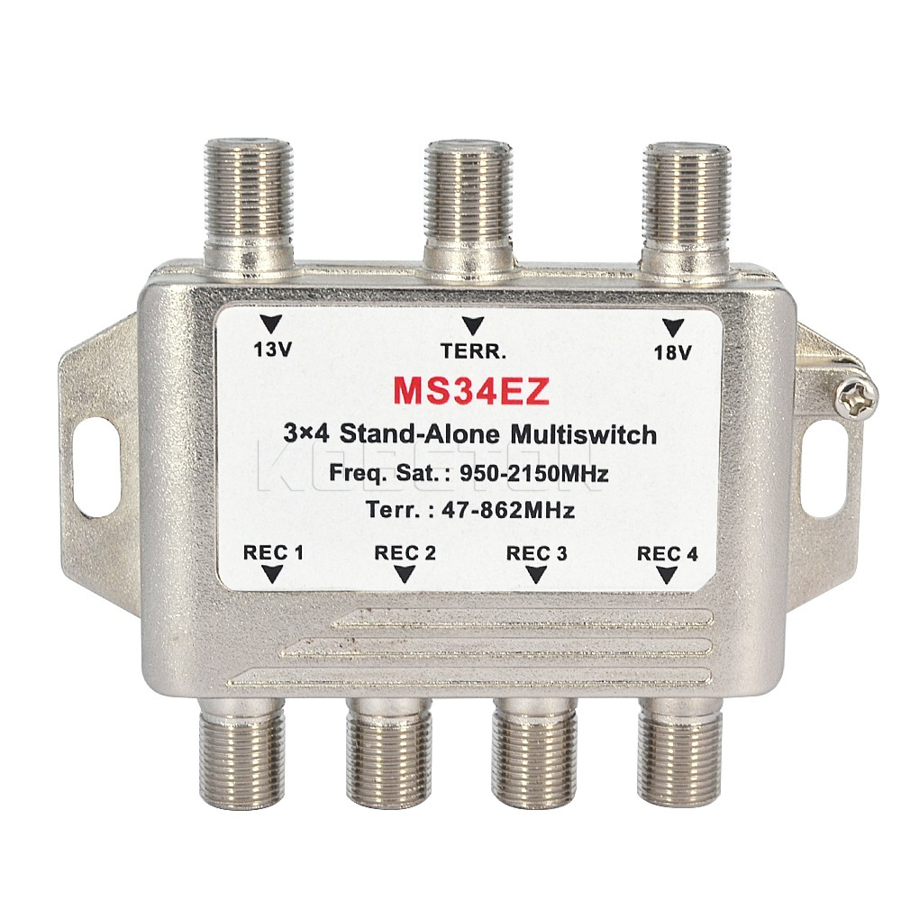 3x4 DiSEqC Satellite Stand-Alone MultiSwitch FTA TV LNB Switch Cascade 3 in 4 multiswitch 2 LNB 1 TERR IN For DVB-S2 and DVB-T2(China (Mainland))