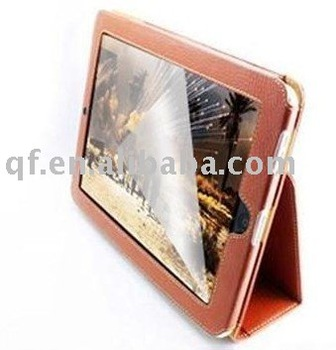 wholesale and retail New free shipping Leather Case+Screen Protector Cover Skin for Apple iPad