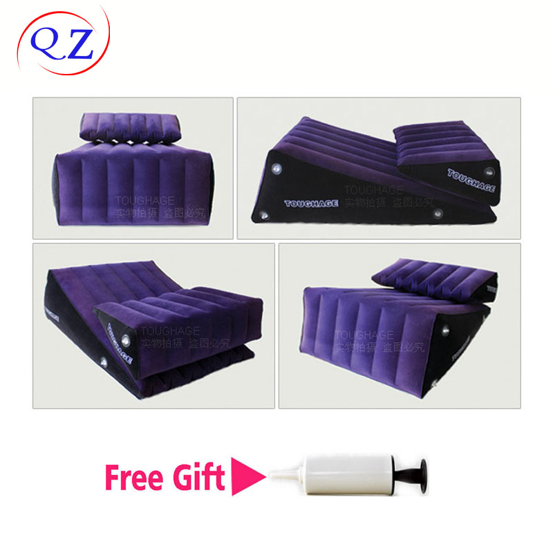 Фотография New Toughage,2PIC Wedge Magic Triangle Pillow,Sex Position Swing Sofa Chair Cusion Pad,Adult Sex Furnitures,Sex Toys For Couples