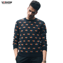 Viishow O-Neck Sweater Brand Men Hip Hop Pullover Men Sweater Sport Knitting Slim Fit Sweater Men Clothing Plus Size S-5XL(China (Mainland))