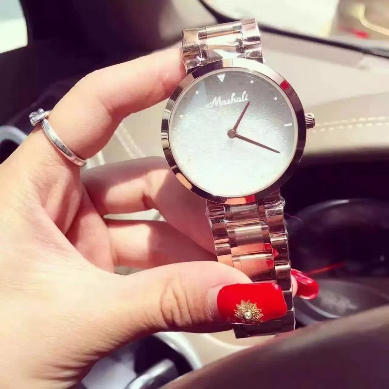 Простой Элегантный Дизайн Женщины Полные Кристаллы Платье Часы Импортные Кварц 316L Браслет Наручные часы Мелисса Аналоговые Relojes