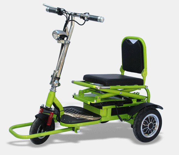 Tj 48v20ah 001 folding electric tricycle scooter tricycle for Motorized scooters for elderly