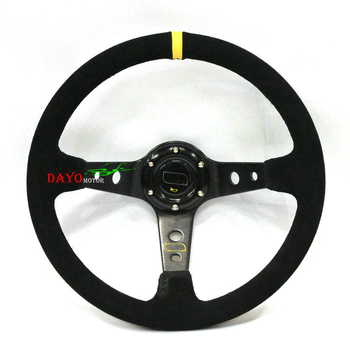 R14 inch ( Genuine leather) Sport Steering Wheel/racing steering wheel For OMP steering wheel