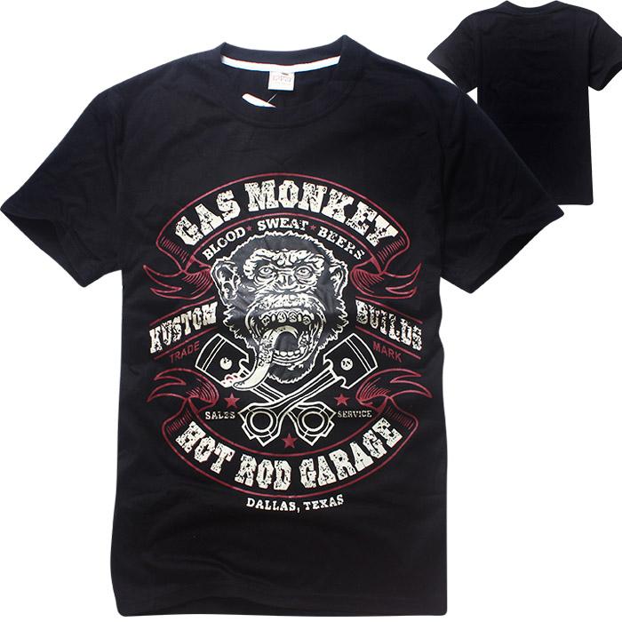 GAS MONKEY GARAGE Dallas Texas Fashion Men's Costume Male T-Shirts Short Sleeve Tops Desinger shirt men TC712(China (Mainland))