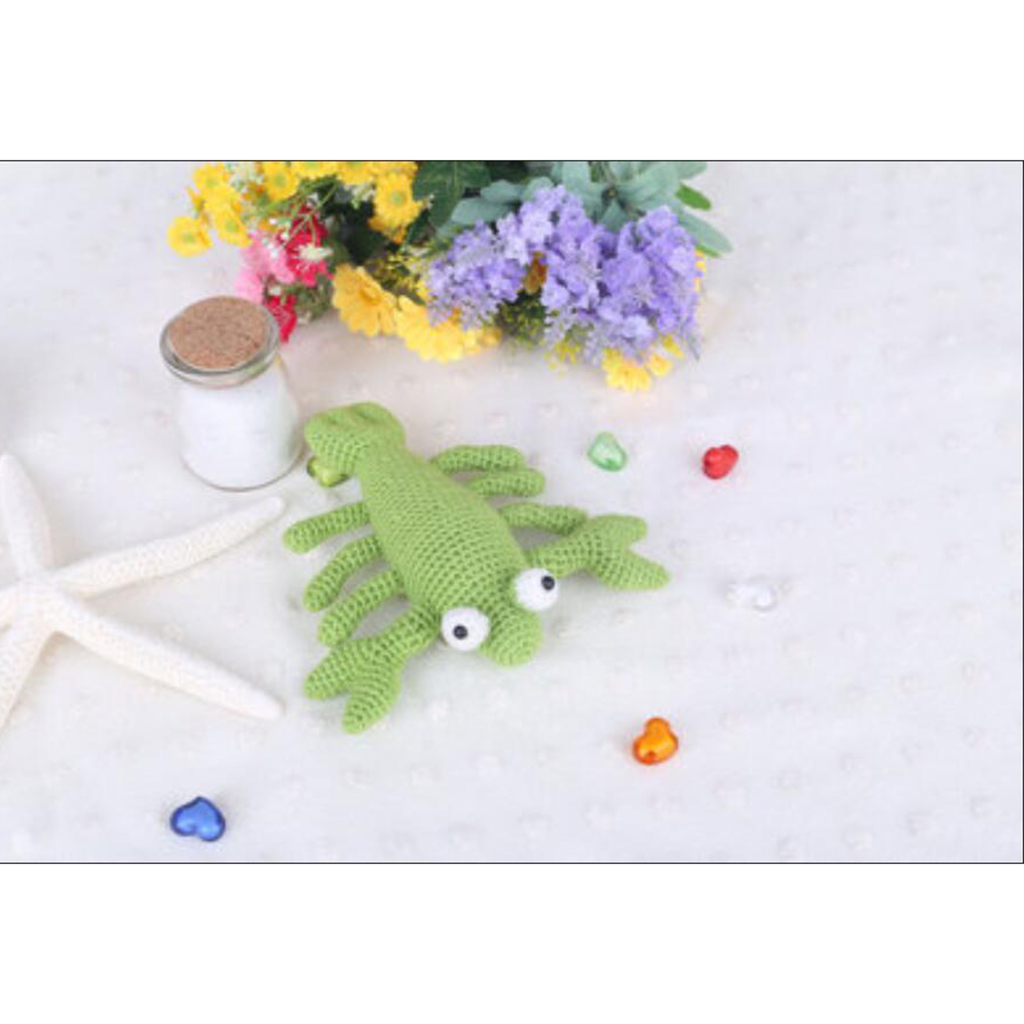 Handmade DIY Lobster Doll Toy Crochet Kit Amigurumi Kit for Kids Beginners Crafts