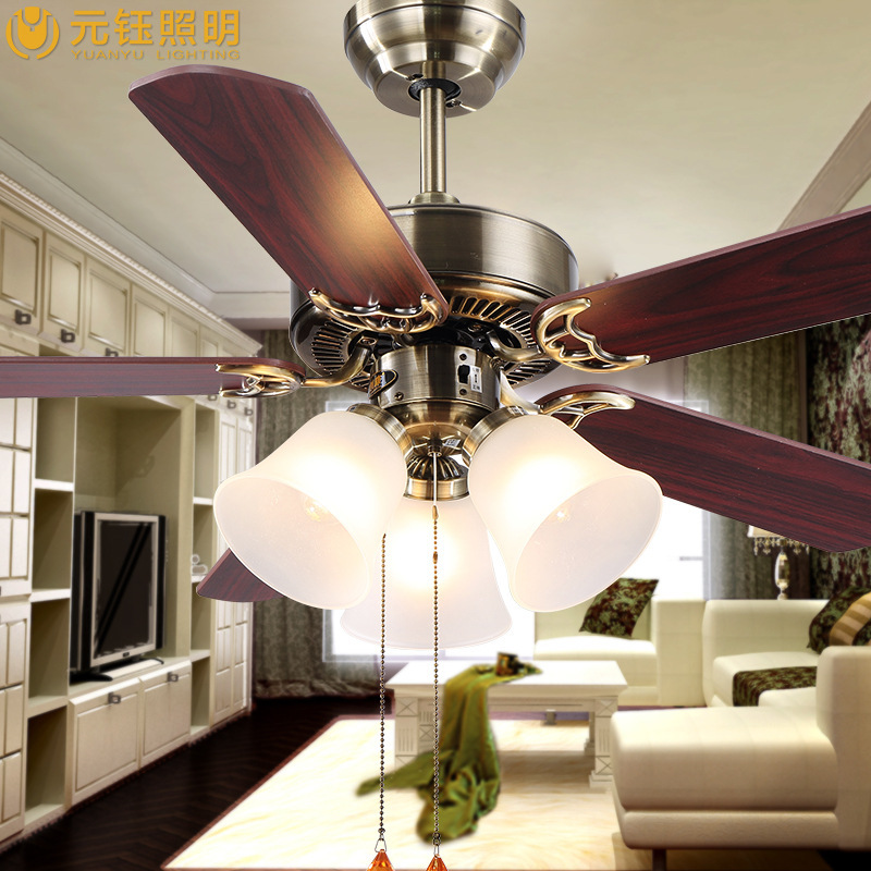 European Fan Lights Living Room Lamp Bedroom Ceiling Fan With Light Household Restaurant Hot New