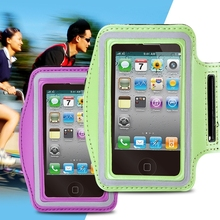 Green Running SPORTS Arm Band Cover for Iphone 4 4s 4g Smartphone Protective Bag Out Door Running Accessories Quality ArmBand