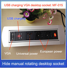 Buy EU/US/AU/UK Plug Desktop socket / hidden manual rotation / VGA cable USB charging socket /Can choose function module/MF-015 for $40.00 in AliExpress store