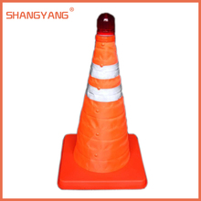 300*190*190 Reflective Oxford Fabric PP Folding Road Cone Barricades Traffic Facilities With Top Light PP30(China (Mainland))