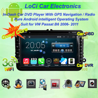 Quad Core,Pure android 4.4, Car Multimedia radio Audio dvd android player for VW volkswagen passat b6 2006- 2011,gps navigation