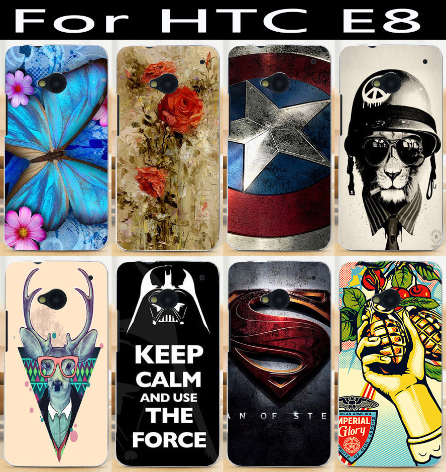 2014 Hot product mobile phone case for HTC One E8 protective case hard Back cover Skin Shell(China (Mainland))