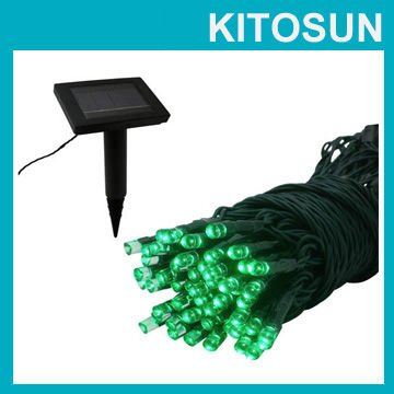 KITOSUN 2pcs/Lot green color LED Solar Fairy Lights Outdoor Garden Light Solar Powered Landscaping Battery Light String<br><br>Aliexpress