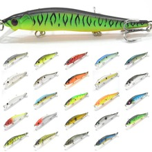 wLure Minnow Crankbait Hard Bait Tight Wobble Slow Floating Jerkbait High Quality ABS Model 110 12g