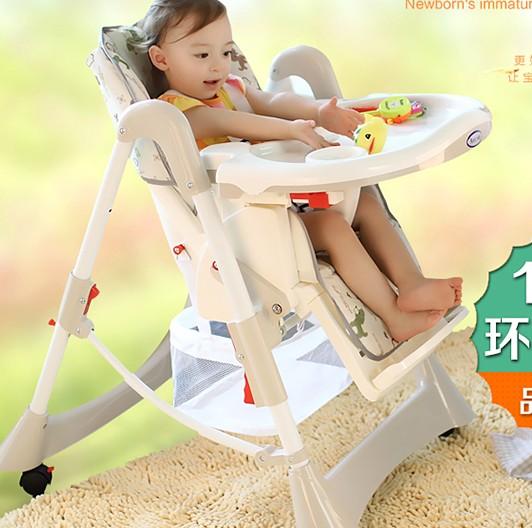 Фотография Multifunctional baby dinette folding chair portable baby seat child chair kids eat