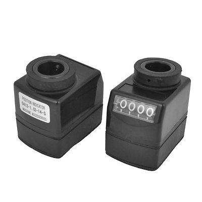 2 Pcs Hollow Shaft Electronic Digital Position Indicator Black 14mm Bore Dia(China (Mainland))