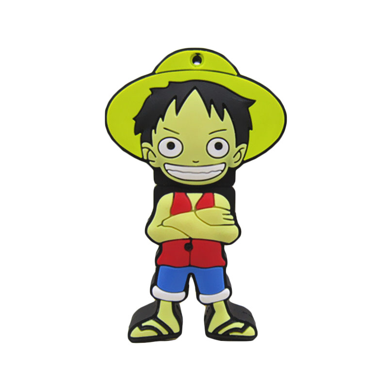 Pen drive ONE PIECE Monkey D. Luffy 8gb 16gb 32gb 64gb usb 2.0 flash drive memory card stick disk Storage Device pendrive(China (Mainland))