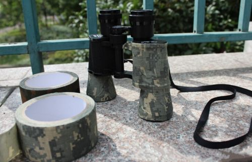 Free shipping 1PCS Outside Polyester Army 5m Adhesive Tape Camo Wrap Rifle Gun Hunting Stealth men