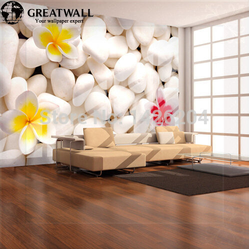 Great Wall 3d Stone Wallpaper Murals For Living Room Large