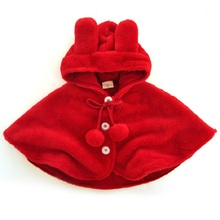 Buy Newborn Baby Girls Red Cloak 2017 Baby Girl Clothes Kids baby Poncho Fleece Cloak Hooded Children Coat Clothing Cape Outerwear for $13.11 in AliExpress store