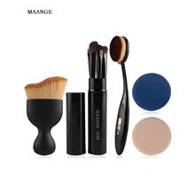 MAANGE 5pcs Eyeshadow Eyeliner Makeup Brushes Kit Foundation ToothBrush Curved Blush Brush Air Cosmetic Puffs Make Up Tools Set(China (Mainland))