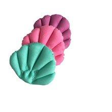 Wygodna wanna z hydromasażem pcv poduszka piankowa Pad zagłówek nadmuchiwana poduszka ssania w kształcie muszli w kształcie szyi poduszka wanna(China)