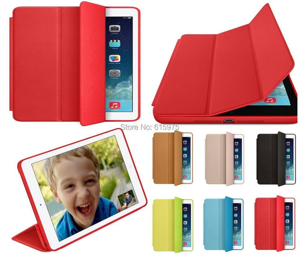 Super Slim Smart cover for apple ipad mini case original ultra flip leather stand cases free shipping with retail package 1pcs(China (Mainland))