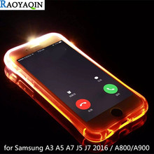 Buy Soft TPU LED Flash Light Remind Incoming Call Case coque Samsung Galaxy A3 A5 A7 J5 J7 2016 Cover A8 A9 2015 Funda Capa for $1.30 in AliExpress store