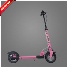 Pink Fashion Electric Car Scooter Walk Bike New Foot Board Watt 2 Wheel Folding Electric Scooter For Lady and girls(China (Mainland))