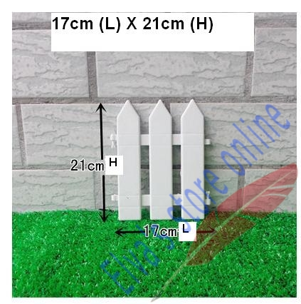 17cm x 21cm Plastic Fences White Railing Fences European Country style Insert Ground For Garden Courtyard Decor Easily Assembled(China (Mainland))