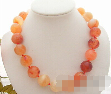 FREE SHIPPING>>> 18MM Round Carnelian Necklace(China (Mainland))