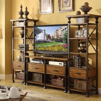 retro dachboden eisen holz tv m bel tv hintergrund racks. Black Bedroom Furniture Sets. Home Design Ideas